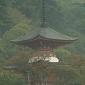 Pagoda v Japonskom meste Kjóto