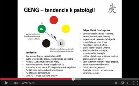 Video ukážka z kurzu BaZi - zdravotné aspekty nebeských kmeňov