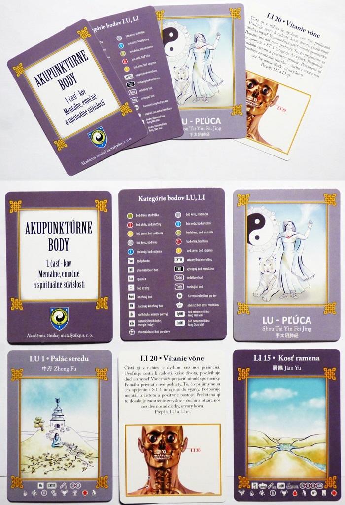 Akupunktúrne body karty Kov